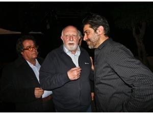 Sergio Vespertino con lo storico Gaetano Basile