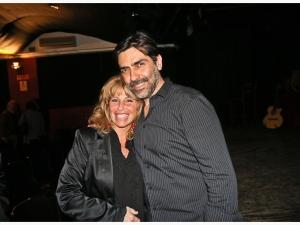 Sergio Vespertino con la scrittrice Lucia Vincenti