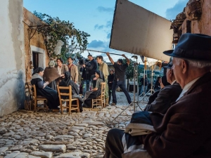 Sergio Vespertino durante le riprese del film di Pif un omaggio di Paolo Ciriello su facebook